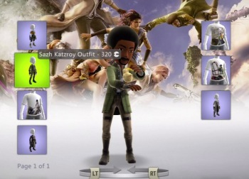 Sazh and Chocobo chick Final Fantasy XIII Xbox 360 Avatar Items