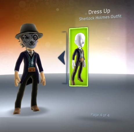 Sherlock Holmes (Limited Edition) Xbox 360 Avatar Outfit