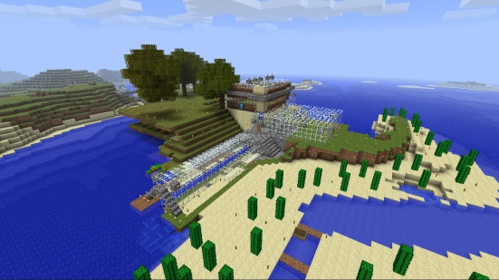 Minecraft - Aerial view of my house