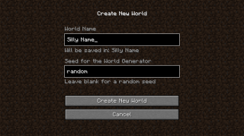 Minecraft - New World Creation