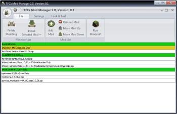 Minecraft - TFC Mod Manager 0.2