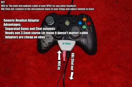Xbox Live Custom Headset Setups: Generic XBL Puck to Mic IN & 3.5mm out