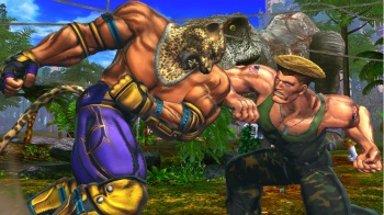 Street Fighter X Tekken - King and Guile duke it out