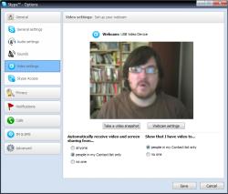 Skype Video Options