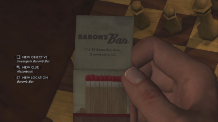 L.A. Noire - On the trail to Baron's Bar