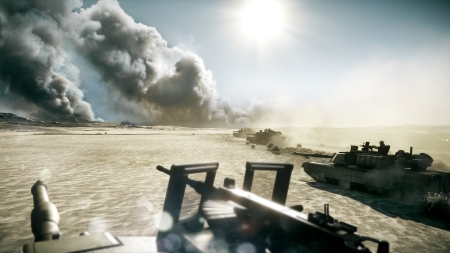 Battlefield 3 - Tanks make their way across singleplayer