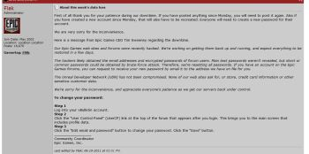 Epic Forum Post from CEO