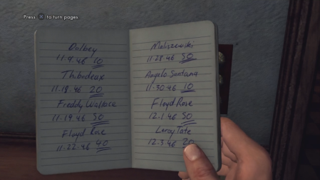 L.A. Noire - Looking at a book