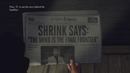 L.A. Noire - The first newspaper to pick up