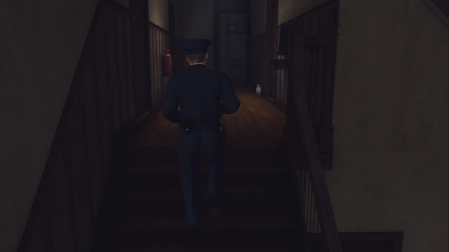 L.A. Noire - walking up some stairs