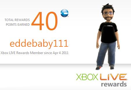 Xbox Live Reward Scheme