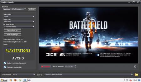 HD PVR Capture Module (Windows) - Main screen