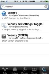 Veency Install in Cydia