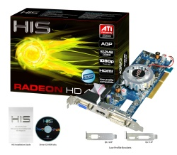 HIS HD 4350 iFan Native HDMI 512MB (64bit) DDR3 AGP